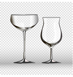 Glass glassware 3d realistic isolated icons vector