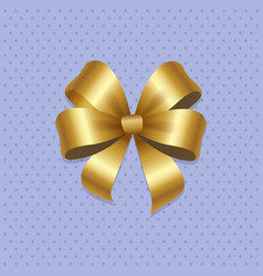 Golden bow knot with four loop vector