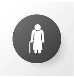 Grandma icon symbol premium quality isolated old vector