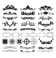 Graphic decorative elements for frames vector