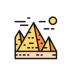 great pyramids in giza egypt landmark vector image