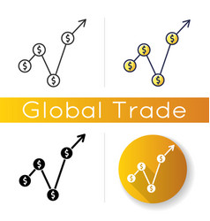 Gross domestic product icon market value monetary vector