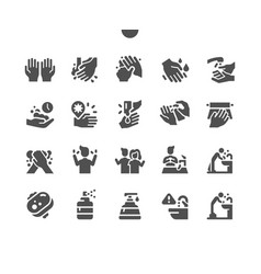 hand hygiene 2 well-crafted pixel perfect vector image
