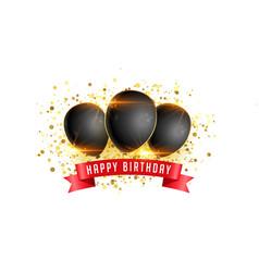 Happy birthday celebration card background vector