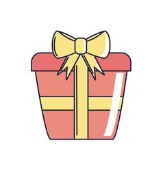 Happy birthday red wrapped gift box surprise vector