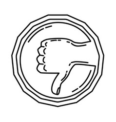 Haram icon doodle hand drawn or outline icon style vector