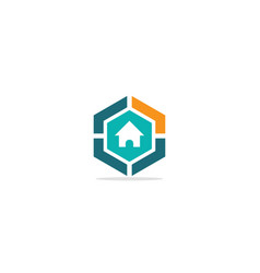 home realty polygon company logo vector image