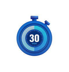 Icon a timer with 30 minutes on white vector