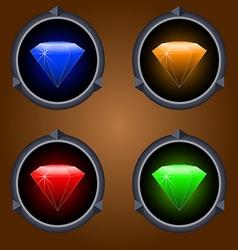 Icons gemstones vector