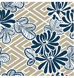 japanese flower pattern seamless traditional vector image