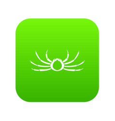 japanese spider crab icon digital green vector image