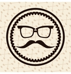 Label hipster vector