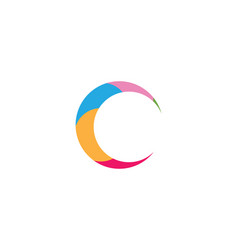 Letter c logo template design vector