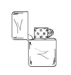 Lighter sketch vector
