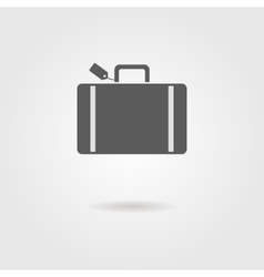Luggage icon with shadow vector