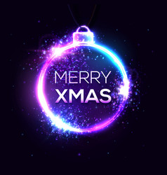 merry xmas background electricity abstract sign vector image