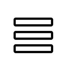 mobile application hamburger menu setting vector image