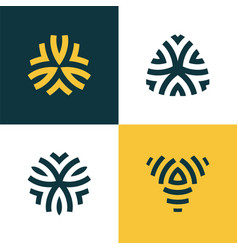 modern line logos set of creative geometric vector image