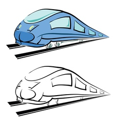 modern train vector image