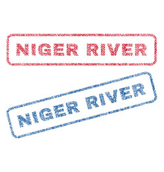 Niger river textile stamps vector