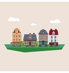 Old Vintage Country and City Houses vector
