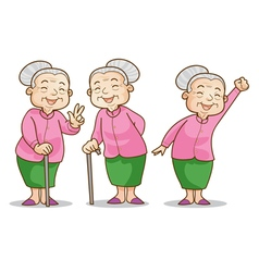 Old woman benign vector