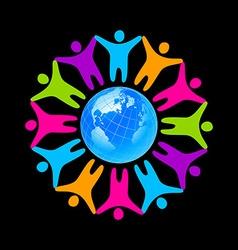 people unity vector image