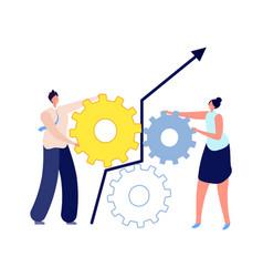 people work together gender collaboration man vector image