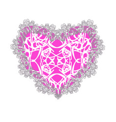 pink lacy heart for valentines day vector image