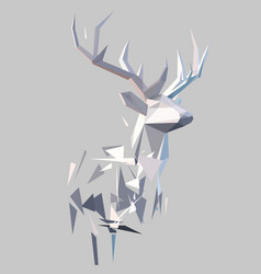 Polygonal abstract stag vector