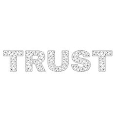 Polygonal carcass trust text label vector