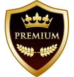 Premium gold shield vector
