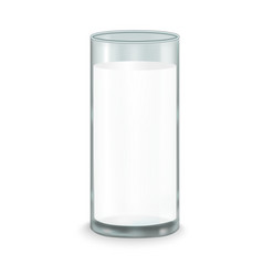 realistic full milk glass vector image