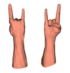rock symbol low poly hand vector image