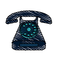 rotary phone icon image vector image