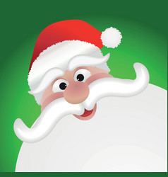 Santa Claus face vector image