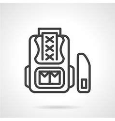 School knapsack icon line style vector image