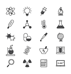 Science and Medical Icons Line vector image