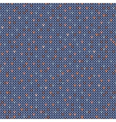 Seamless melange pattern on the wool knitted vector image
