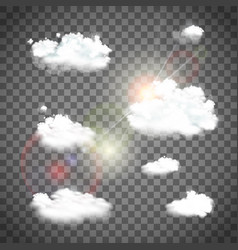 set of natural clouds vector image