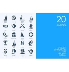 Set of sailing icons vector image