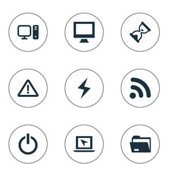 Set of simple notebook icons vector