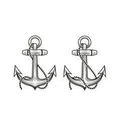 ship anchor symbol nautical concept vector image