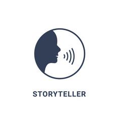 storyteller brand digital logo icon story teller vector image