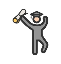 Student Holding Degree vector