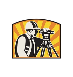 Surveyor Engineer Theodolite vector image