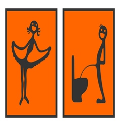 Toilet signs 2 vector