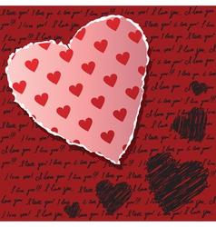 Valentines scrapbooking card vector image vector image