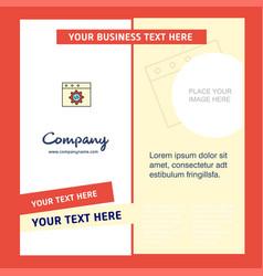 website programming company brochure template vector image
