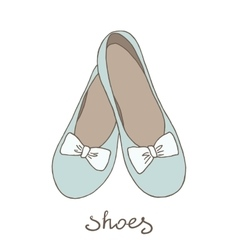 Women ballerina shoes vector